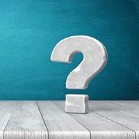 Question mark for frequently asked questions about tooth extractions
