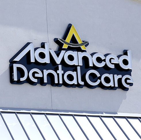 Advanced Dental Care sign on building
