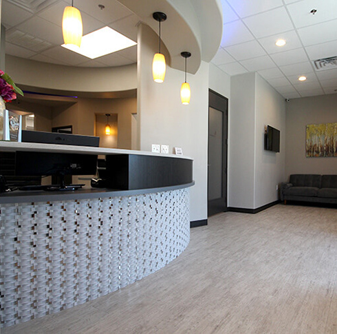 Patient waiting area at Advanced Dental Care