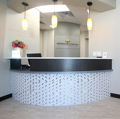 Advanced Dental Care Welcoming reception desk