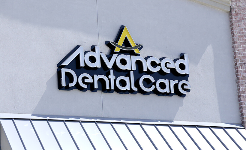 Advanced Dental care sign outdoors