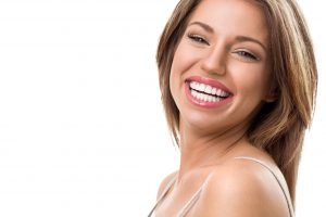 happy woman with attractive teeth